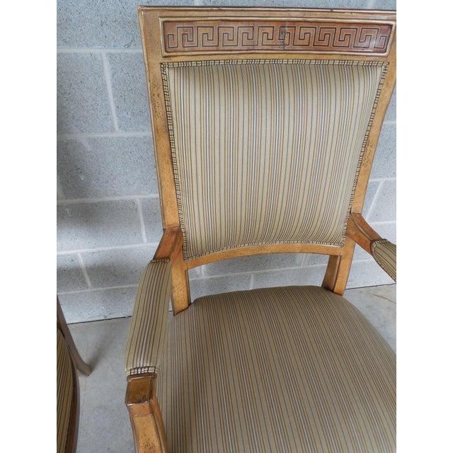Ferguson Copeland Neoclassical Regency Style Chairs - Set of 8 - Image 7 of 11