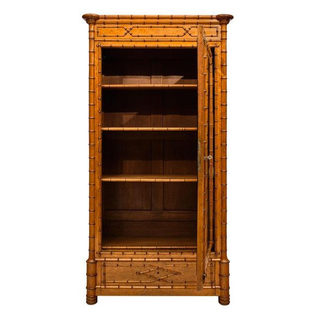 French Antique Bamboo Bonnetiere For Sale In Austin - Image 6 of 10