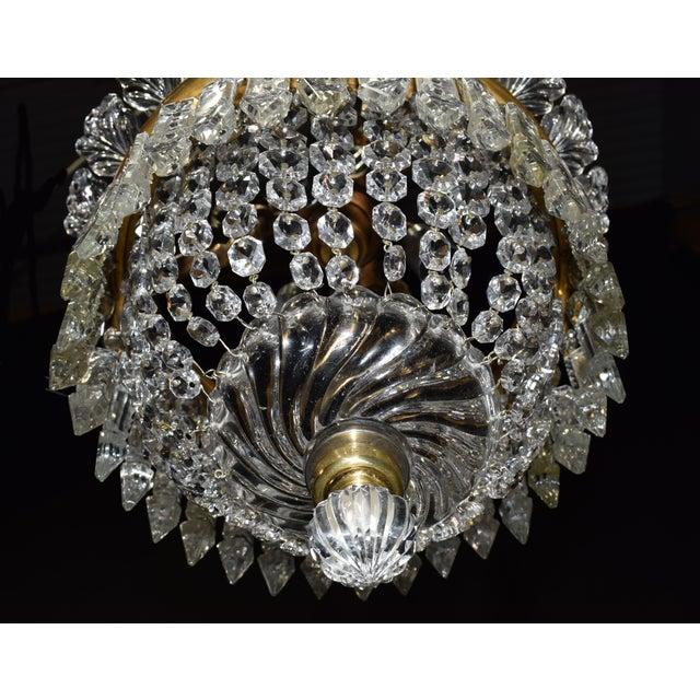 Antique lighting, Baccarat pendant - Image 6 of 6