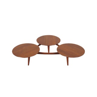 Vintage Solid Walnut Coffee Table Attributed to Greta Grossman For Sale
