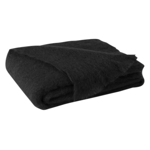 Raven Brushed Mohair Throw For Sale