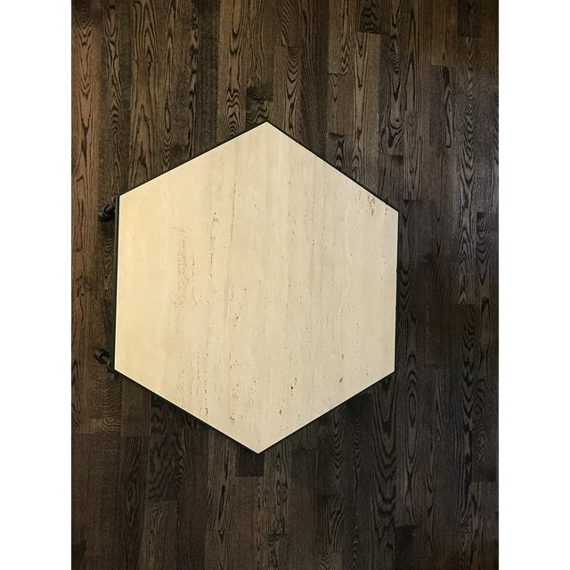 2010s Modern Giacometti Style Hexagonal Center Table For Sale - Image 5 of 9