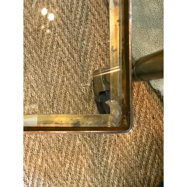 Vintage Brass Bar Cart For Sale - Image 9 of 10