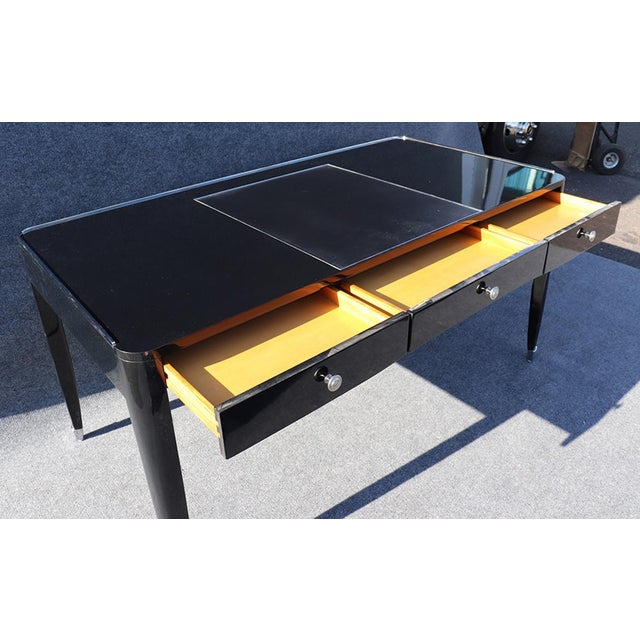 Black Black Ralph Lauren One Fifth Paris Bureau Plat Writing Table Desk For Sale - Image 8 of 11