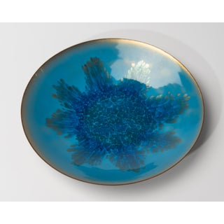 Mid Century Abstract Copper Enamel Bowl Plate Charger Preview