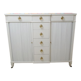 Unusual Vintage Kittinger Commode with Accordian Doors