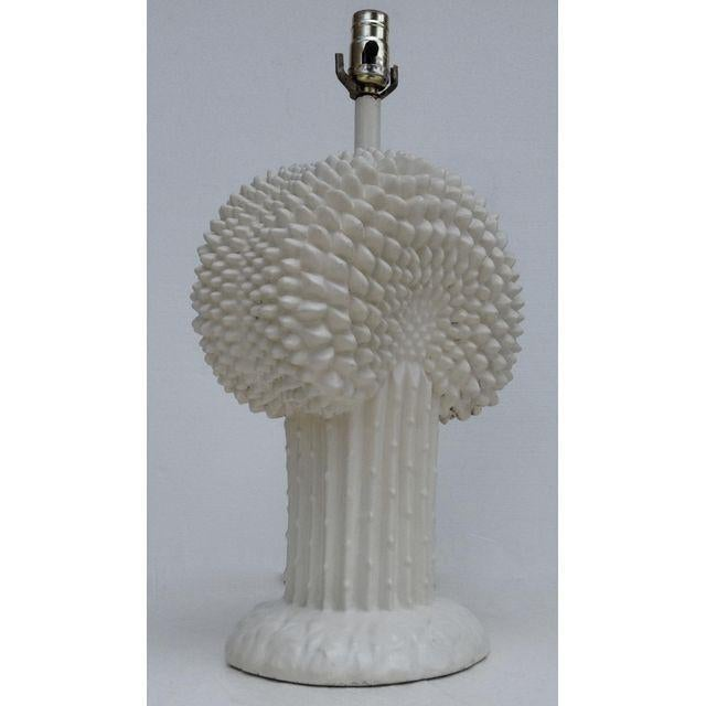 Mid-Century Modern John Dickinson Plaster Palm Cactus Lamp For Sale - Image 3 of 11