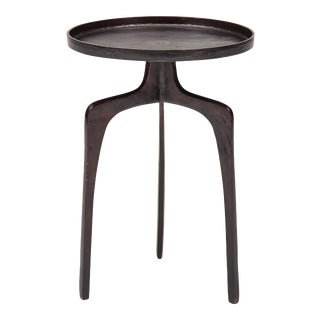 Reagan End Table, Raw Bronze For Sale