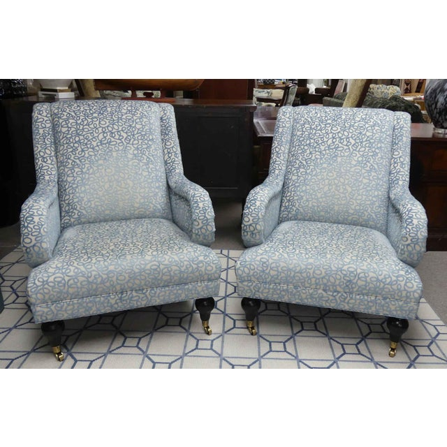 Hickory Chair Gabriela Lounge Chairs - a Pair For Sale - Image 9 of 9