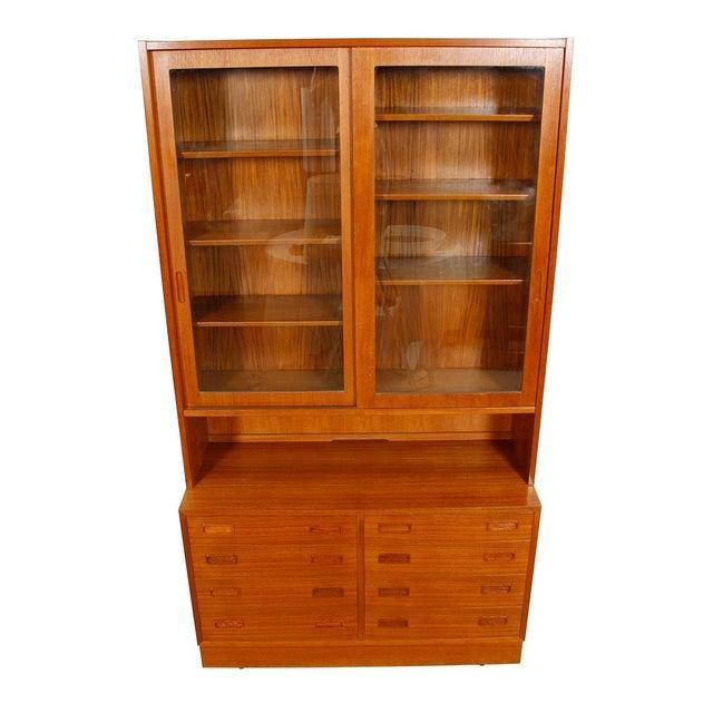 Danish Modern Teak Bookcase Display Cabinet - Image 2 of 8