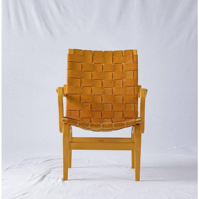 "Bruno Mathsson Leather ""EVA"" Lounge Chair - Image 2 of 10"