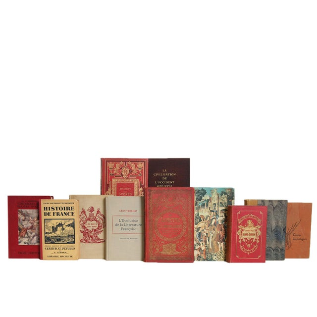 French History and Literature in Cobblestone, S/20. Features a blend of twenty authentic midcentury books published...