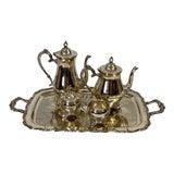 Image of Vintage Newport Gorham Silverplate Tea Service - Set of 5 For Sale