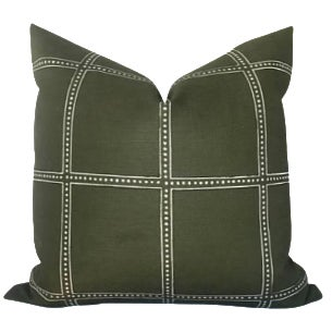 Campaign Green Postage Pillow Cover For Sale