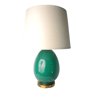 Jamie Young Large Egg Table Lamp Emerald Green For Sale