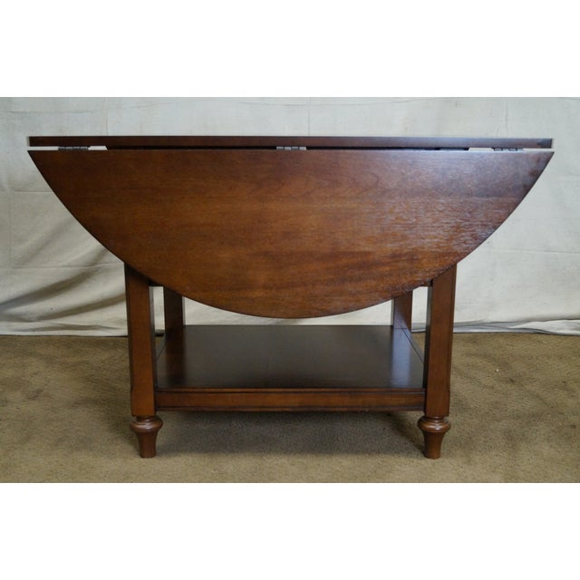 Pottery Barn Shayne Drop Leaf Mahogany Kitchen Table