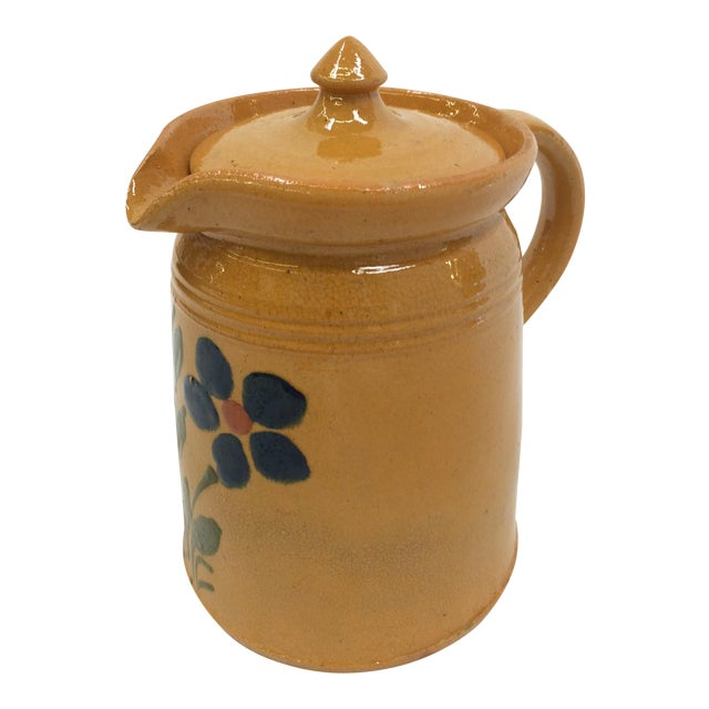 1920s French Yellow Ware Pitcher - Image 1 of 7