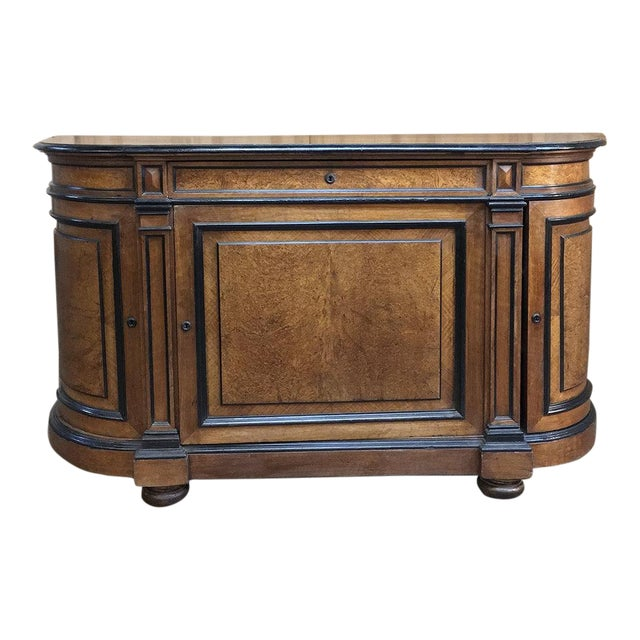 19th Century French Napoleon III Period Walnut Buffet For Sale