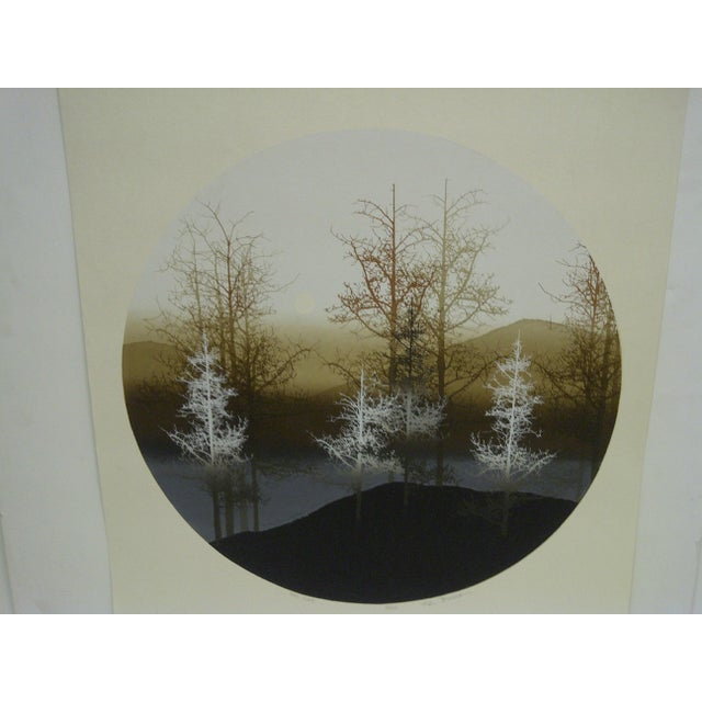"Mid-Century Modern Virgil Thrasher ""Tree Slope"" Limited Edition Print For Sale - Image 3 of 6"