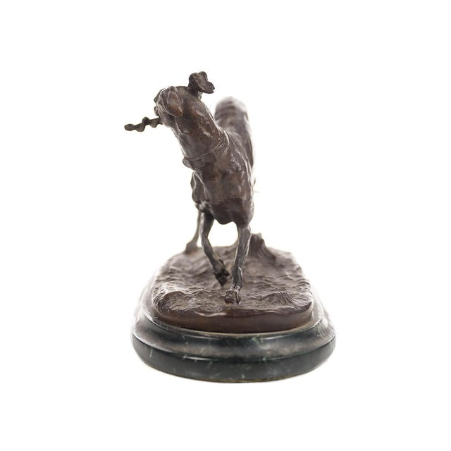 Bronze Greyhound Whippet Figurine by P.J. Mene For Sale - Image 5 of 10