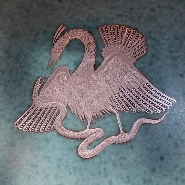 Art Deco Wilhelm Kage Argenta Series Charger for Gustavsberg For Sale - Image 3 of 8