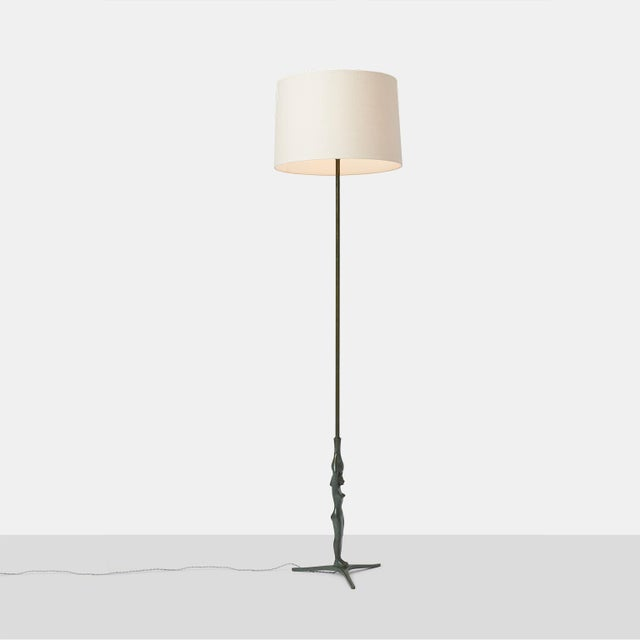 Figurative Gino Scarpa Floor Lamp in Bronze For Sale - Image 3 of 6