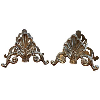 Pair of French Silver Plated Neoclassical Knife Rests For Sale