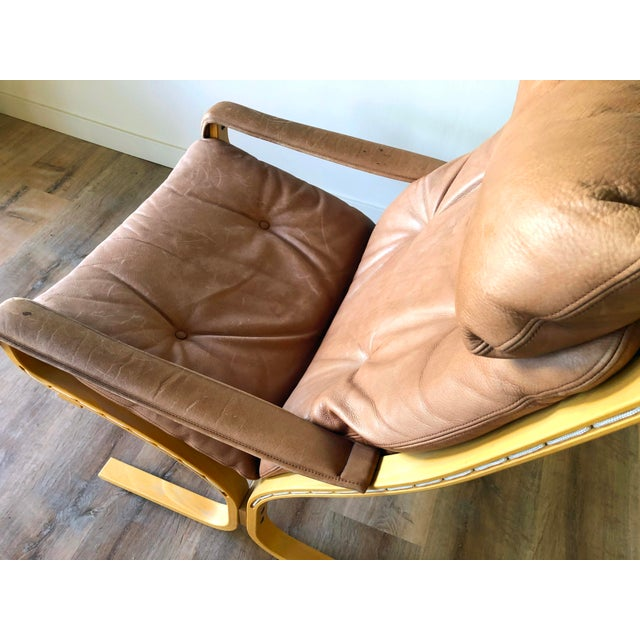 Tan Ingmar Relling for Westnofa Mid-Century Modern Leather Siesta Chair With Ottoman For Sale - Image 8 of 13