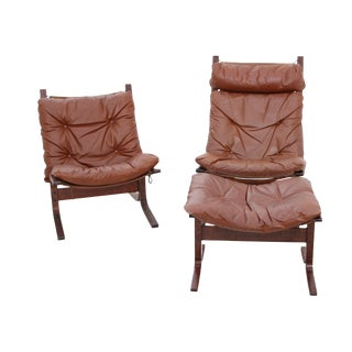 Ingmar Relling His & Her Siesta Chairs With Foot Stool