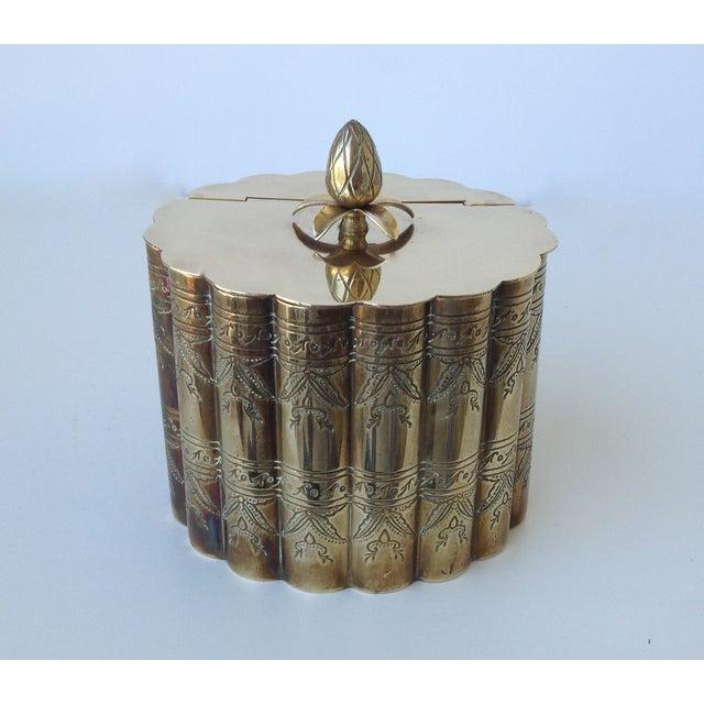 Brass English Moorish-Style Tea Container - Image 5 of 11