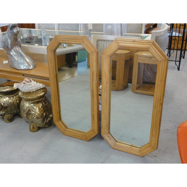 Florida Style Rattan Mirrors - A Pair - Image 2 of 6