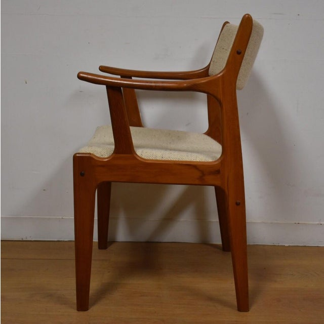 Mid-Century Teak Side Chair - Image 9 of 11