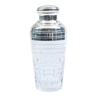 Mid-20th Century Saint Louis Crystal Martini or Cocktail Shaker For Sale