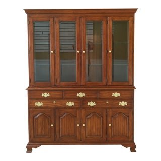 Henkel Harris 4 Door Cherry China Cabinet For Sale