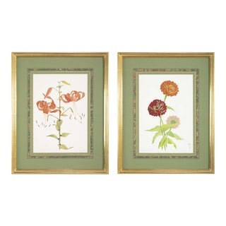 1990s Original Watercolors by James L. Sain Priced Individually - a Pair For Sale
