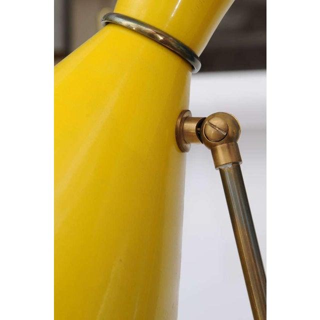 Brass Stilnovo Italian Three-Light Floor Lamp For Sale - Image 7 of 9