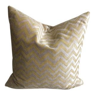 "Contemporary Room & Board Galbraith & Paul Tagine 16"" Chevron Pillow For Sale"