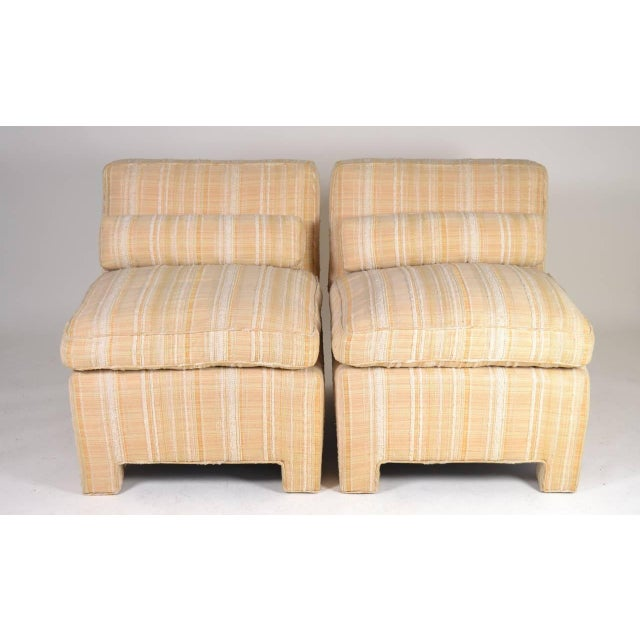 Pair of Modern Upholstered Slipper Chairs, circa 1960s For Sale In New York - Image 6 of 10