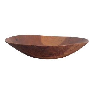 David Lowry Cherry and Burl Wood Bowl For Sale