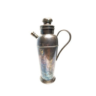 1920's Bernard Rice's Sons Inc of New York Silver Prohibition Era Large Cocktail Serving Shaker For Sale