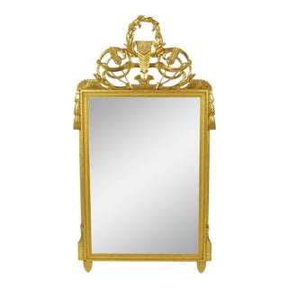 Late 19th Century Louis XVI-Style Gilt Mirror For Sale