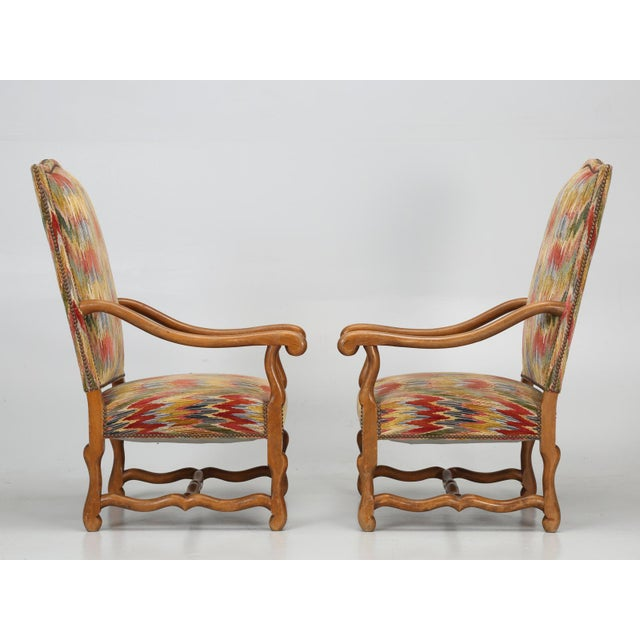 French French Os De Mouton Style Armchairs - A Pair For Sale - Image 3 of 11