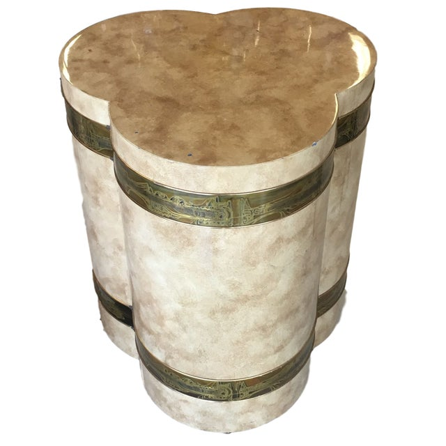 1970s Mid-Century Modern Mastercraft Bernard Rohe Decorated Drum Table For Sale - Image 13 of 13