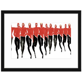 "Tony Viramontes ""Red Halston"" Framed Fashion Print For Sale"