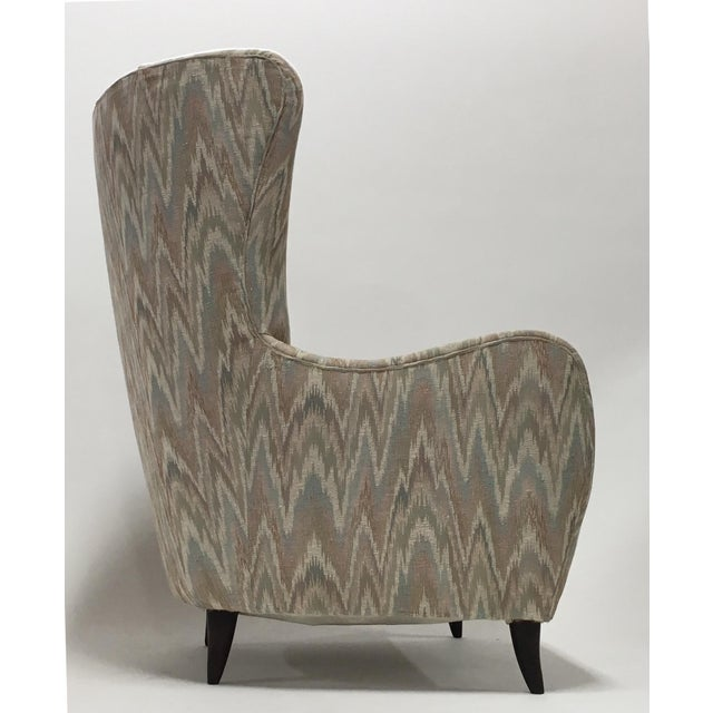 Italian High Back Lounge Chairs - A Pair - Image 3 of 11