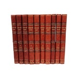 Image of Antique French Leather-Bound Books - Set of 10 For Sale
