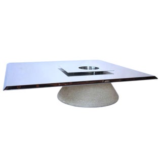 Stainless Steel Cocktail Table For Sale