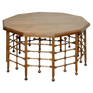 JW Custom 10 sided Stick and Ball Coffee Table For Sale