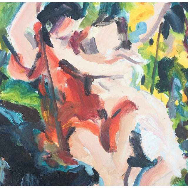 """This piece is from a series of works inspired by the Masters. Referencing the painting """"The Swing"""" by Pierre Auguste Cot...."""