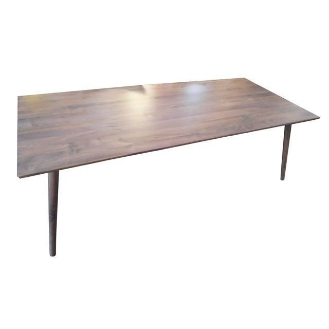 Seno Mid Century Dark Walnut Dining Table Chairish